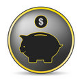 Black pig icon Royalty Free Stock Photo