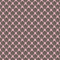 Black pink shell design repeatable pattern Royalty Free Stock Photo