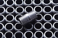 Black Pipe Fittings II Royalty Free Stock Photo