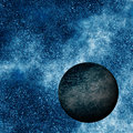 Black Planet Royalty Free Stock Photo