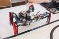 Black plastic mechanical robot spider