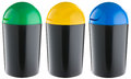 Black plastic selective trash can Royalty Free Stock Photo