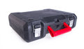 Black plastic tool box on the background Royalty Free Stock Image