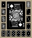 Spades suit black playing cards Royalty Free Stock Photo