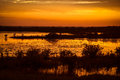 Black point wildlife drive lake at sunset merritt island national refuge titusville florida usa Stock Photo