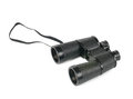 Black porro-prism binoculars Stock Images