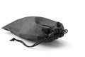 Black pouch on a white background Royalty Free Stock Photos