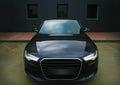 Black powerful sports car Royalty Free Stock Photo