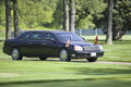 Black Presidential Limo Royalty Free Stock Photo