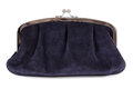 Black purse isolated on white Royalty Free Stock Images
