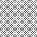 Black quatrefoil pattern on bright white background Stock Image