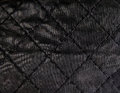 Black quilted leather backgound Royalty Free Stock Image