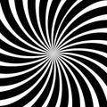 Black rays swirl sunburst abstract background pattern texture vector illustration modern style Royalty Free Stock Photo