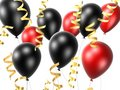 Black and red balloon Royalty Free Stock Photos