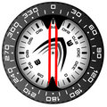 Black&red compass Stock Image