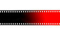 Black and red film strip on white background Royalty Free Stock Photo