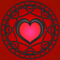 Black/Red Hearts & Swirls Royalty Free Stock Image