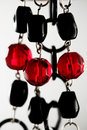 Black and red necklace Royalty Free Stock Images