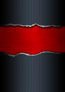 Black and Red Ripped Paper Royalty Free Stock Photo