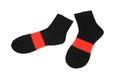 Black red socks isolated on white background
