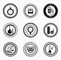 Black retro labels and badges: business statistic Royalty Free Stock Photography