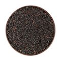 Black rice in the bowl Stock Photos