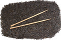 Black rice and chopsticks Stock Photography