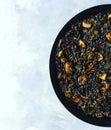 Black rice Paella Royalty Free Stock Photo