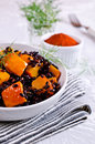 Black rice with pumpkin Royalty Free Stock Photo
