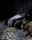 Black roadster Royalty Free Stock Photo