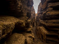 Black Rock Fissures 1 Royalty Free Stock Photo