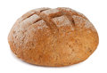 Black round bread Stock Photos