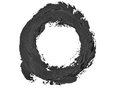 Black round grunge brush strokes oil paint isolated Royalty Free Stock Photo