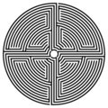 Black round labyrinth Royalty Free Stock Photo