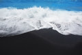 Black sand beach in Tenerife at Canary Islands Royalty Free Stock Photo