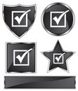 Black Satin - Checkmark Royalty Free Stock Image