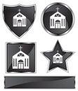 Black Satin - Church Royalty Free Stock Photo