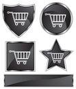 Black Satin - Shopping Cart Royalty Free Stock Photo