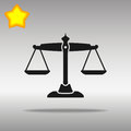 Black Scale of justice Icon button logo symbol concept high quality Royalty Free Stock Photo