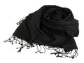 Black scarf beautifull isolated on white background Stock Images