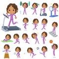 Black school girl  purple jersey Sports&exercise