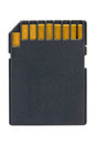 Black SD Memory Card Royalty Free Stock Photos