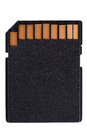 Black sd memory card Royalty Free Stock Photo