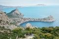 Black sea coast coastline in crimea ukraine Stock Photo