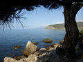 Black sea coast in crimea landscape of Stock Photos