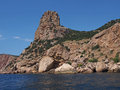 Black sea coast near balaklava crimea ukraine rocks and bay Royalty Free Stock Photography