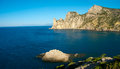 Black sea coastline in crimea ukraine Royalty Free Stock Photos
