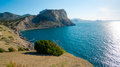 Black sea coastline in crimea ukraine Stock Photography