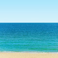 Black sea photo of the seashore Royalty Free Stock Photo