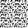 Black seamless background shapes similar to Tetris game